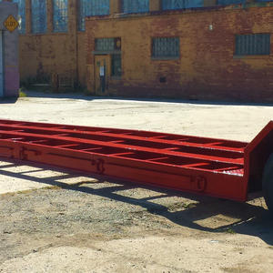 Stretched 60' Lowboy Trailer Blast and Paint